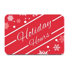 Winter Holiday Hours Plate Mats