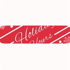 Winter Holiday Hours Large Bar Mats