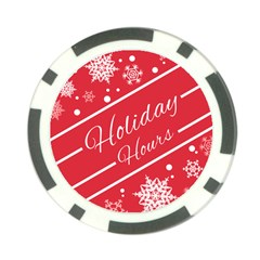 Winter Holiday Hours Poker Chip Card Guards