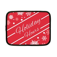 Winter Holiday Hours Netbook Case (small)