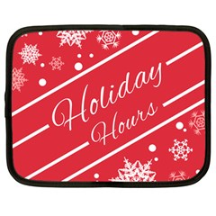 Winter Holiday Hours Netbook Case (large)