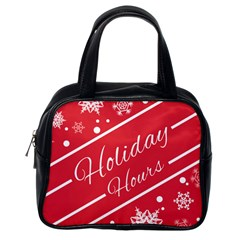 Winter Holiday Hours Classic Handbags (one Side)