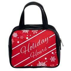 Winter Holiday Hours Classic Handbags (2 Sides)