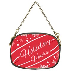 Winter Holiday Hours Chain Purses (two Sides)