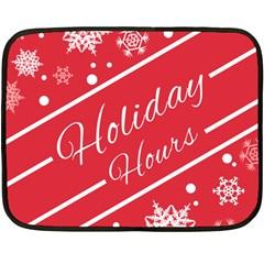 Winter Holiday Hours Fleece Blanket (mini)