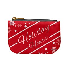 Winter Holiday Hours Mini Coin Purses