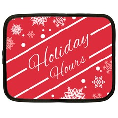 Winter Holiday Hours Netbook Case (xl)