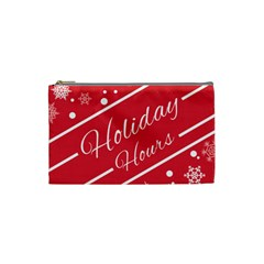 Winter Holiday Hours Cosmetic Bag (Small)