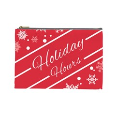 Winter Holiday Hours Cosmetic Bag (large)
