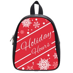Winter Holiday Hours School Bags (small)