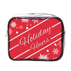Winter Holiday Hours Mini Toiletries Bags