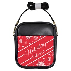 Winter Holiday Hours Girls Sling Bags