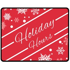 Winter Holiday Hours Fleece Blanket (medium)