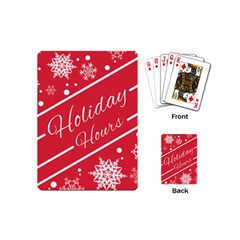 Winter Holiday Hours Playing Cards (mini)