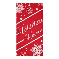 Winter Holiday Hours Shower Curtain 36  X 72  (stall)