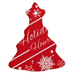Winter Holiday Hours Christmas Tree Ornament (2 Sides)