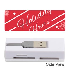 Winter Holiday Hours Memory Card Reader (stick)