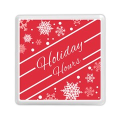 Winter Holiday Hours Memory Card Reader (square)