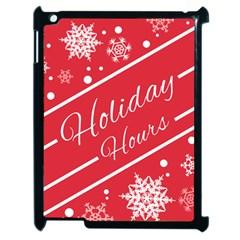 Winter Holiday Hours Apple Ipad 2 Case (black)