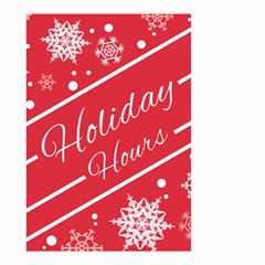 Winter Holiday Hours Small Garden Flag (two Sides)