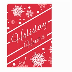Winter Holiday Hours Large Garden Flag (two Sides)