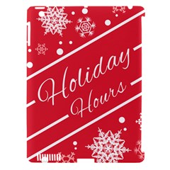 Winter Holiday Hours Apple Ipad 3/4 Hardshell Case (compatible With Smart Cover)