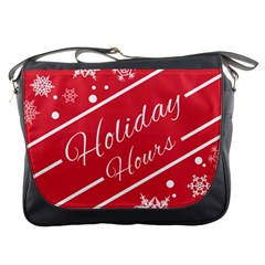 Winter Holiday Hours Messenger Bags