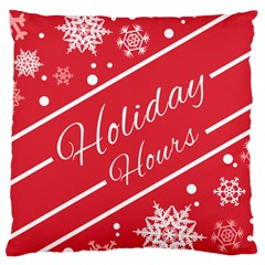 Winter Holiday Hours Large Cushion Case (one Side)