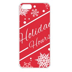 Winter Holiday Hours Apple Iphone 5 Seamless Case (white)