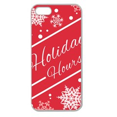 Winter Holiday Hours Apple Seamless Iphone 5 Case (clear)