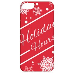 Winter Holiday Hours Apple Iphone 5 Classic Hardshell Case