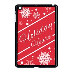 Winter Holiday Hours Apple Ipad Mini Case (black)