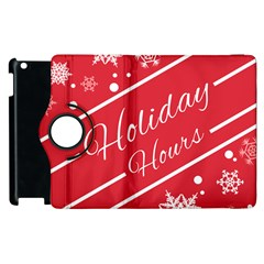 Winter Holiday Hours Apple Ipad 3/4 Flip 360 Case