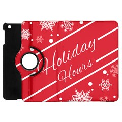 Winter Holiday Hours Apple Ipad Mini Flip 360 Case
