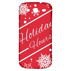 Winter Holiday Hours Samsung Galaxy S3 S Iii Classic Hardshell Back Case