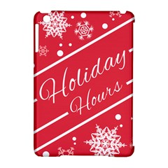 Winter Holiday Hours Apple Ipad Mini Hardshell Case (compatible With Smart Cover)