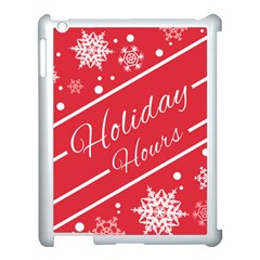 Winter Holiday Hours Apple Ipad 3/4 Case (white)