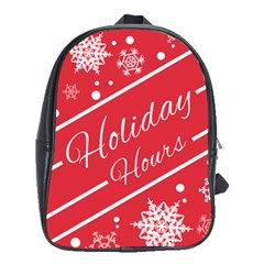 Winter Holiday Hours School Bags (xl)