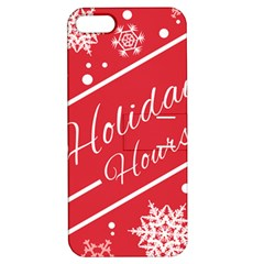 Winter Holiday Hours Apple Iphone 5 Hardshell Case With Stand