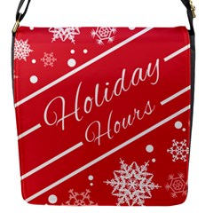 Winter Holiday Hours Flap Messenger Bag (s)