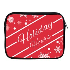 Winter Holiday Hours Apple Ipad 2/3/4 Zipper Cases