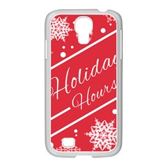 Winter Holiday Hours Samsung Galaxy S4 I9500/ I9505 Case (white)