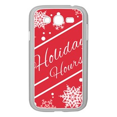 Winter Holiday Hours Samsung Galaxy Grand Duos I9082 Case (white)