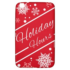 Winter Holiday Hours Samsung Galaxy Tab 3 (8 ) T3100 Hardshell Case