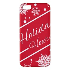 Winter Holiday Hours Iphone 5s/ Se Premium Hardshell Case