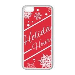 Winter Holiday Hours Apple iPhone 5C Seamless Case (White)