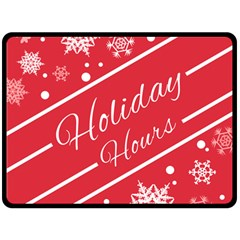Winter Holiday Hours Double Sided Fleece Blanket (large)