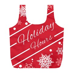 Winter Holiday Hours Full Print Recycle Bags (l)