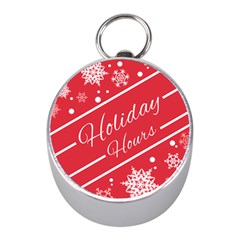 Winter Holiday Hours Mini Silver Compasses