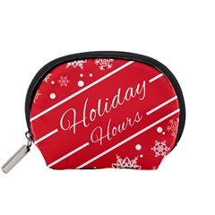Winter Holiday Hours Accessory Pouches (small)
